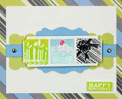 Inchies Happy Birthday Card - by Jennifer Brown
