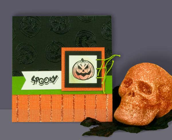 Spooky Pumpkin Card by Kelly Keller