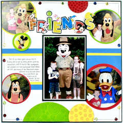 Disney Friends Layout by Karen Bulmahn