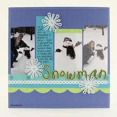 Snowman Layout - by Elizabeth Barboza
