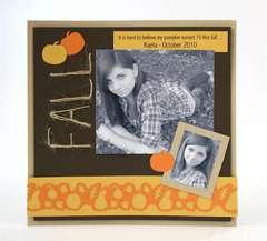 Fall Scrapbook Page by Kelly Keller