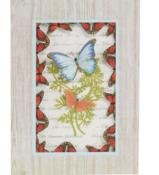 Butterfly and Fern Spring Card Designed By Martha Stewart Crafts™
