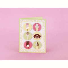 Ice Cream Dots Card Designed By Martha Stewart Crafts