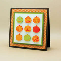 Pumpkin Stamp & Punch Card