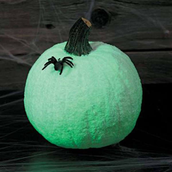Glow-in-the-Dark Glittered Pumpkins
