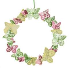 Glitter Embossed Butterfly Wreath Designed By Martha Stewart Crafts™