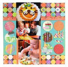 Birthday Layout - by K and Company