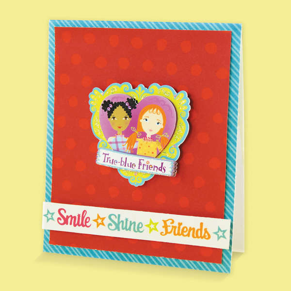 Friendship Card Designed By American Girl Crafts