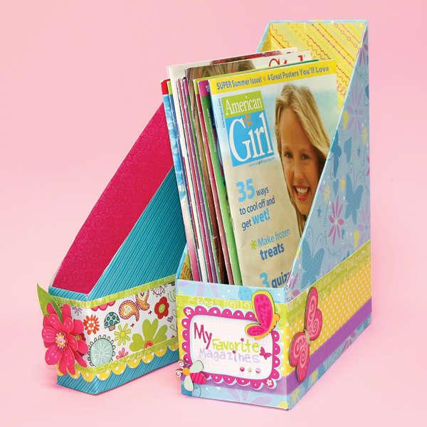Magazine Holder Designed By American Girl Crafts