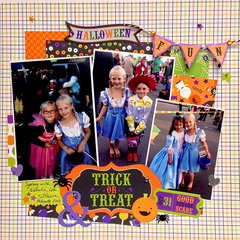 Trick or Treat Halloween Layout