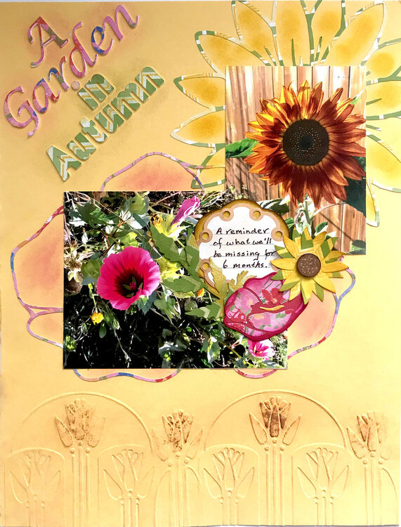 A Garden in Autumn (Aug 2020 Ugly Paper Challenge)