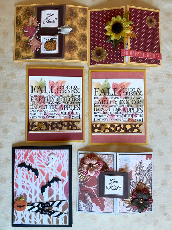 Cards for Sept 2018 Counterfeit Kit Challenge