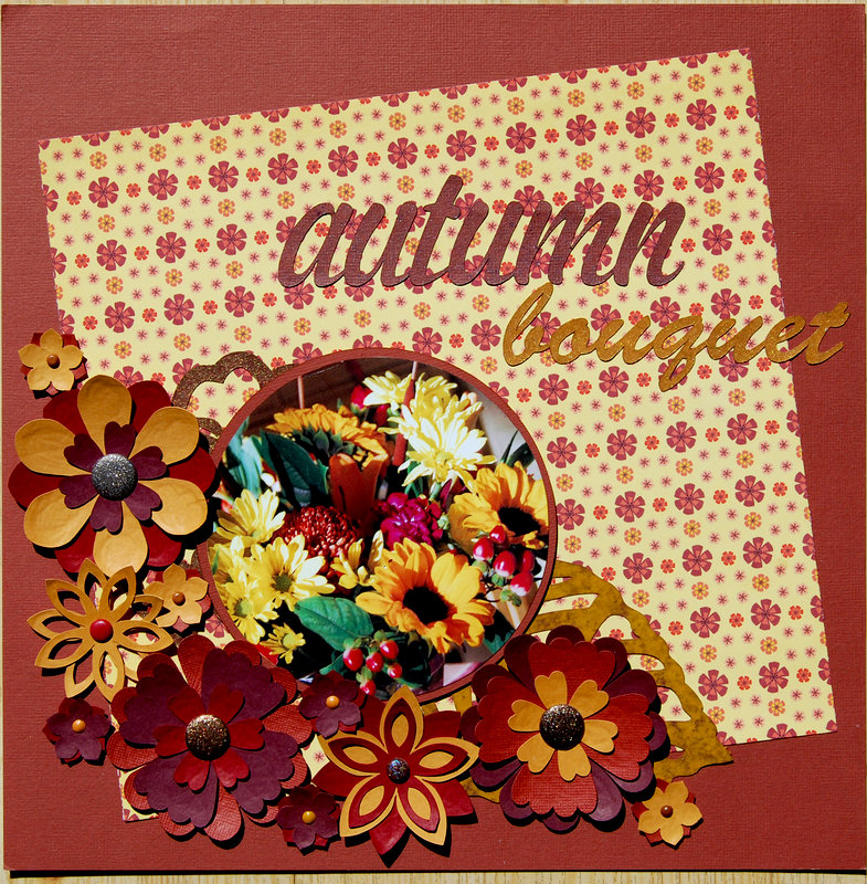 Autumn Bouquet for NSD Silhouette and NSD Hoarders Challenges