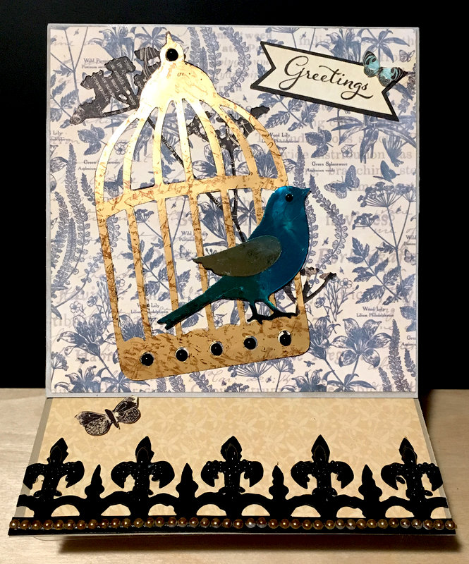 Easel Card with Foiled Die Cuts