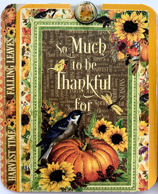 Graphic 45 Autumn Flipbook Inside Front Cover