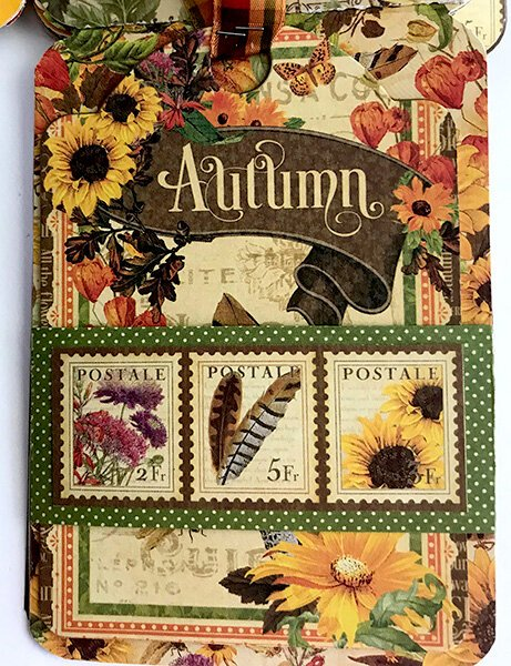 Graphic 45 Autumn Flipbook First Tag Flap