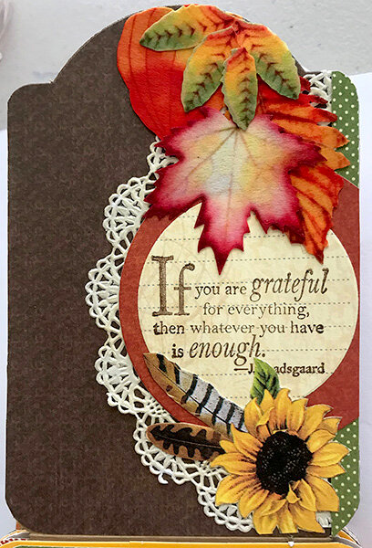 Graphic 45 Autumn Flip Book Reverse of Second Tag Flap