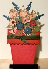 Flower Pot Pocket Card