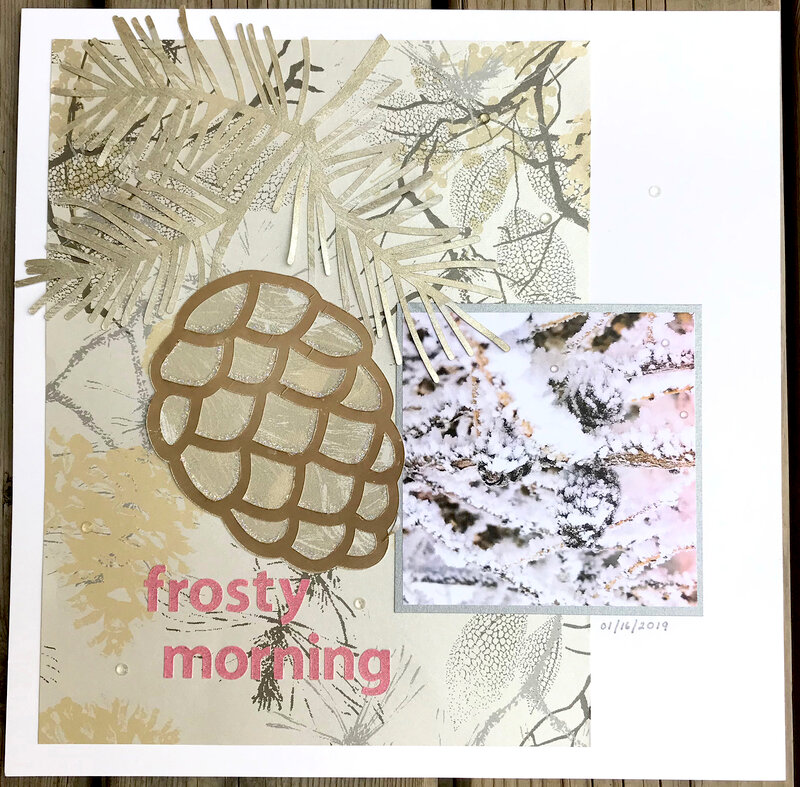 Frosty Morning (Sept 2020 Ugly Paper Challenge)