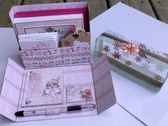 Santa Baby Stationery Box (Inside)