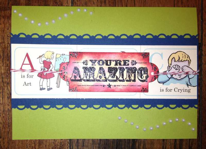 You're Amazing Teacher Appreciation Card