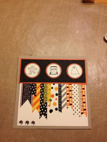 Washi tape halloween card