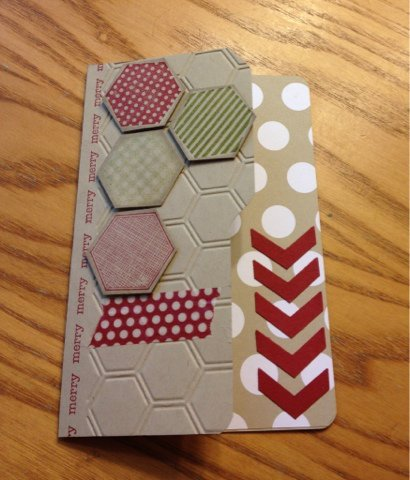 File Folder, Hexagon, Chevron, Washi tape Christmas Card!