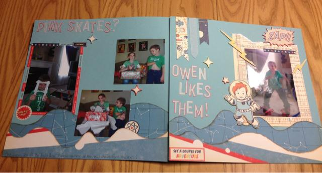 Pink Skates?  Owen likes them! 2 page layout