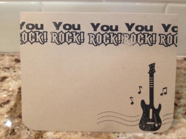 You Rock! card
