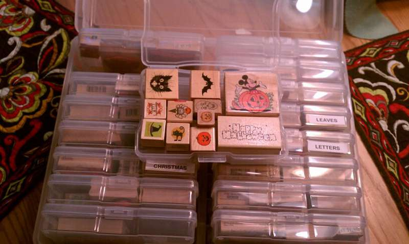 Wood Mount Stamp Storage