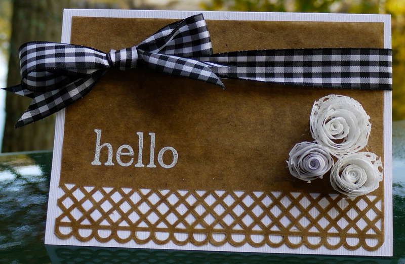 Gingham with Kraft Hello