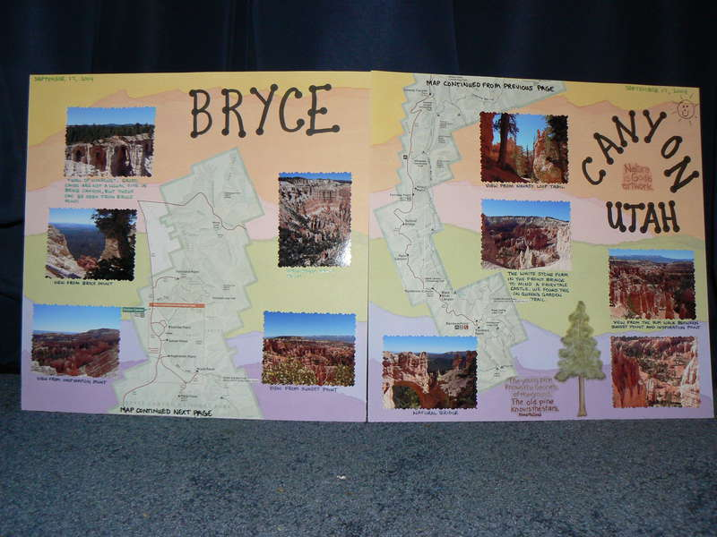 Bryce Canyon 2 page spread