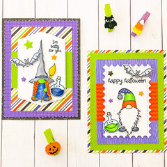 Gnome for Halloween Cards