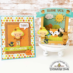 Pumpkin Spice Card and Pop Up Shadow Box