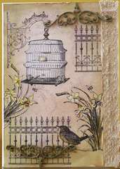 LaBlanche Wire Bird Cage, Wrought Iron Fence