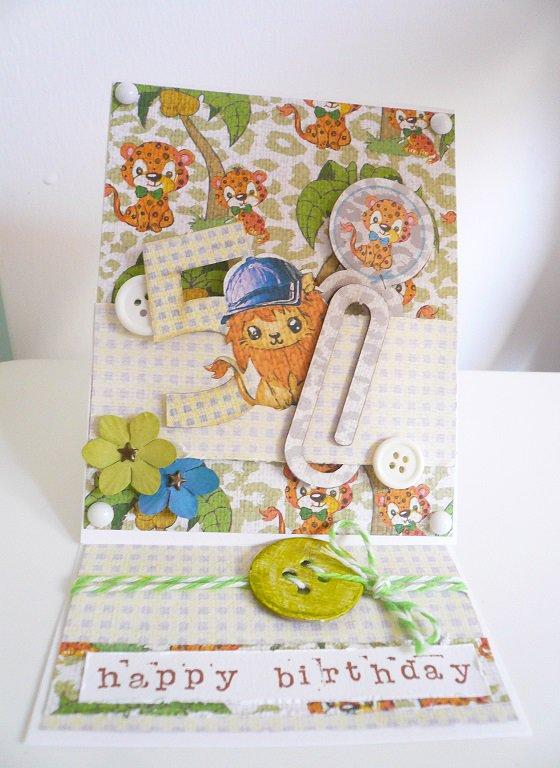 Birthday easel card