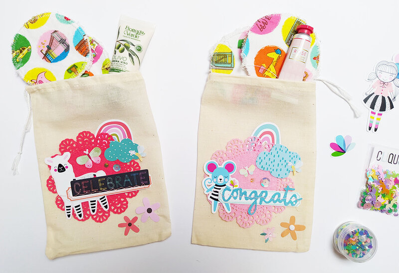 Decorated fabric bags