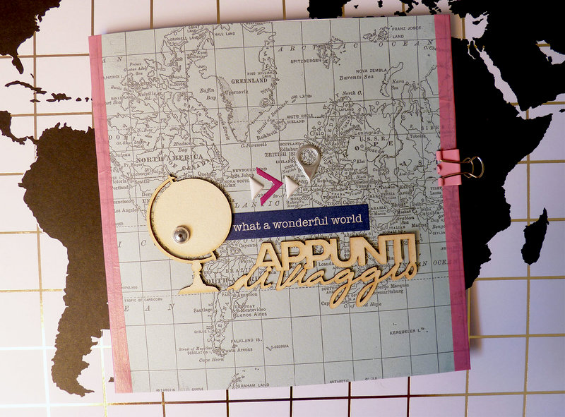 Mini album with washi tape