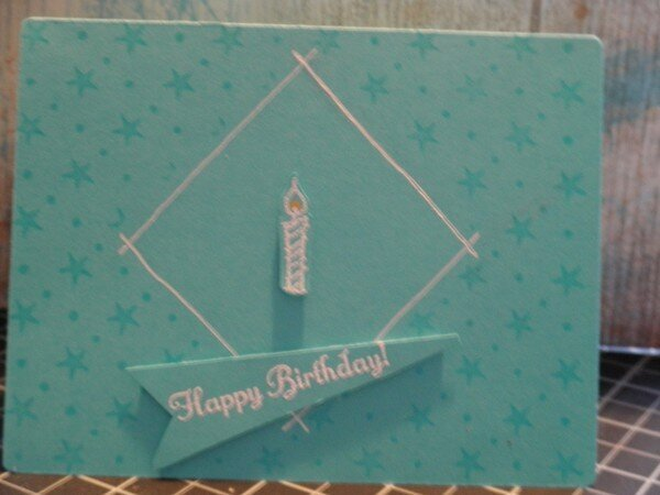 Clean and Simple B day card for my Hubby