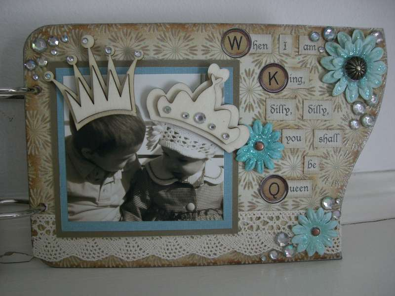 Brother and sister mini chipboard album