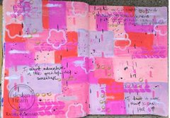 Art Journal Page with Gelatos