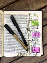 Bible Journaling with Pitt Artist Pens & Gelatos