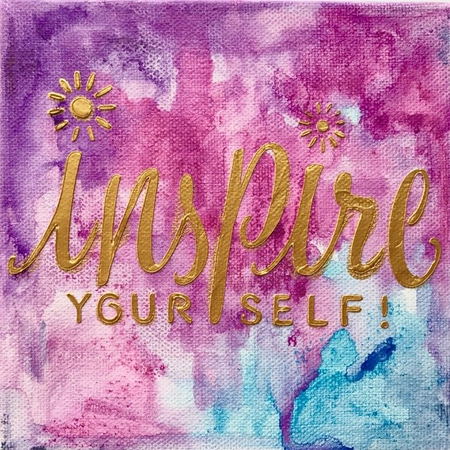 Inspire Mixed Media Canvas with Gelatos
