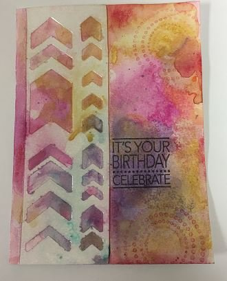 Ice Layer Birthday Card