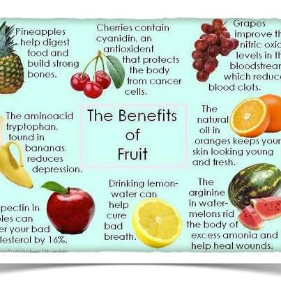THE BENEFITS OF FRUITS