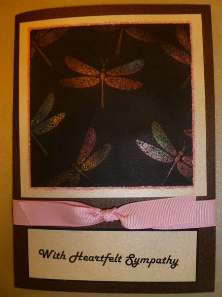 Dragonfly sympathy card