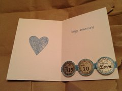 Inside of 10-year anniversary card