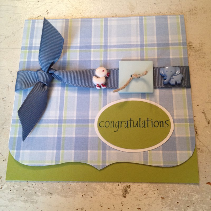 Congratulations for Baby Boy (outside of card)