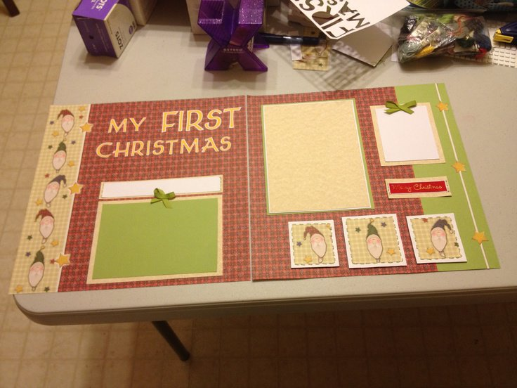 My First Christmas Layout