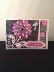 Purple and black sympathy card